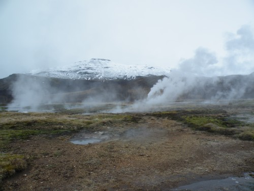 Geothermal activity near the aptly named Geysir.