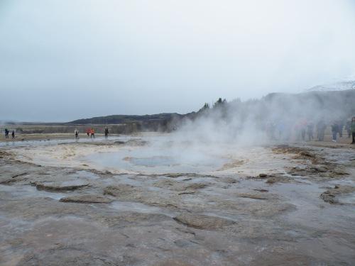 Strokkur geyser, pre-eruption.