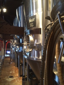 The fermenters at Walnut Brewery, full of great beer.